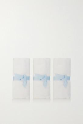 de Mamiel Set Of Three Muslin Cleansing Cloths