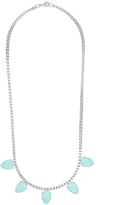 Rosaspina Firenze Five Drops Necklace In Mint Green