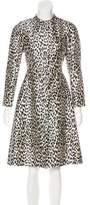 Valentino Satin Knee-Length Coat w/ Tags