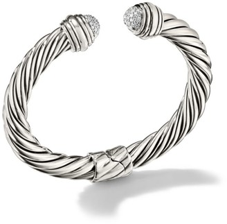 David Yurman Cable Classics Pave Diamond Bracelet