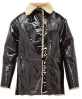 Kassl Editions - Reversible Pvc And Shearling Jacket - Black Brown