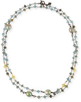 Armenta Old World Crivelli Station Necklace with Aquamarine & Pearls