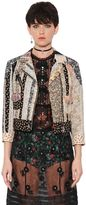 Coach Patchwork Printed Cotton & Lace Jacket