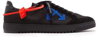 Off-White Off White 2.0 Logo Applique Low Top Canvas Trainers - Mens - Black