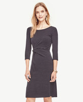Ann Taylor Pinstripe Ponte Twist Dress