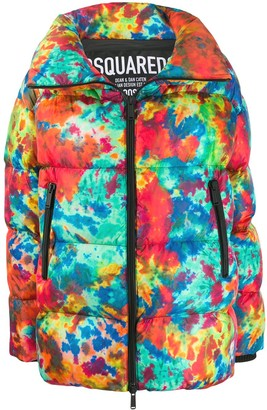 DSQUARED2 Printed Puffer Jacket