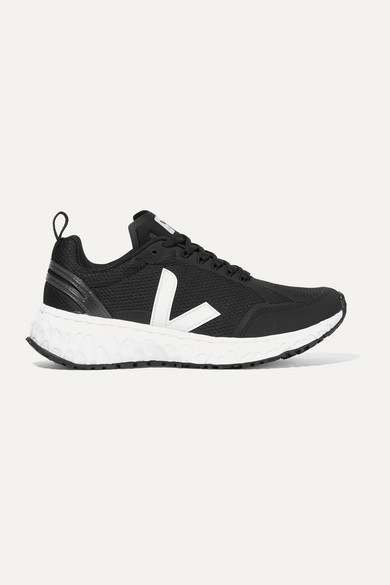 Veja + Net Sustain Condor Rubber-trimmed Mesh Sneakers - Black