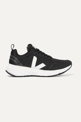 Veja + Net Sustain Condor Rubber-trimmed Mesh Sneakers - Black