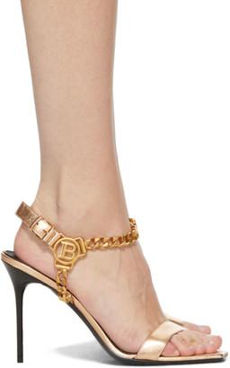 Balmain Bronze Roxana Heels