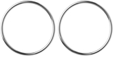 Jennifer Fisher XL Smooth Circle Earrings - Silver