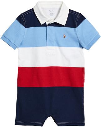 Ralph Lauren Kids Boy's Rugby Jersey Polo Shortall, Size 6-24 Months