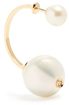 Delfina Delettrez Diamond, pearl & yellow-gold earring