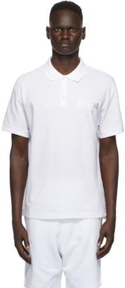 Moschino White Logo Print Polo