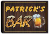 AdvPro Canvas scpv1-1465 PATRICK'S Bar Beer Mug Pub Stretched Canvas Print Sign