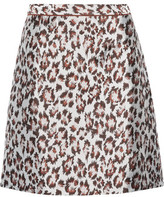Christopher Kane Leopard-Jacquard Mini Skirt