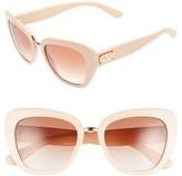 Dolce & Gabbana Women's 53Mm Gradient Cat Eye Sunglasses - Black