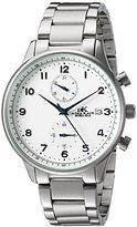 Adee Kaye Men's Quartz Stainless Steel Fitness Watch, Color:Silver-Toned (Model: AK7501-MSV)