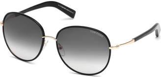 Tom Ford Georgia Gradient Round Sunglasses