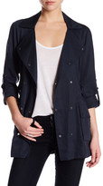 Vince Camuto Double Breasted Raglan Sleeve Trench Coat
