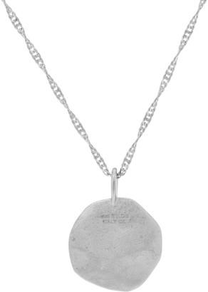 "Diamonique Motif Pendant with 18"" Chain, Sterling"