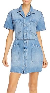 Pistola Denim Clara Field Suit Jean Dress in Bright Blue