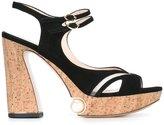 Nicholas Kirkwood 105mm Estella pearl platform sandals - women - Suede/Polyester/Leather/Cork - 35