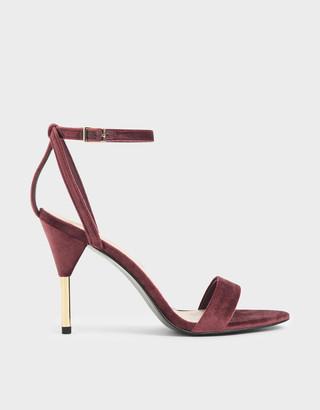 Charles & Keith Velvet Stiletto Heels