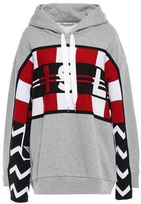 Stella McCartney Jacquard-knit Wool-paneled French Cotton-terry Hoodie