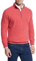 Peter Millar Melange Fleece Quarter-Zip Sweater