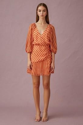 Keepsake CUPID MINI DRESS Coral Stripe
