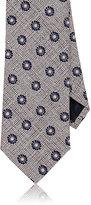 Ermenegildo Zegna Men's Floral Silk Necktie-PINK