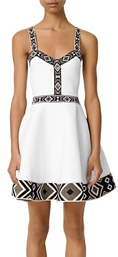 Maje Relief Fit-and-Flare Dress
