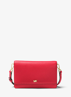 MICHAEL Michael Kors MK Pebbled Leather Convertible Crossbody Bag - Black - Michael Kors