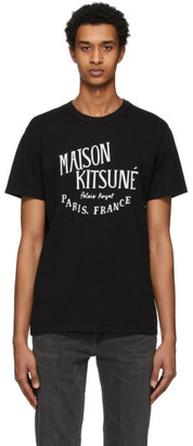MAISON KITSUNÉ Black Palais Royal T-Shirt