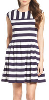 Vince Camuto Stripe Fit & Flare Dress