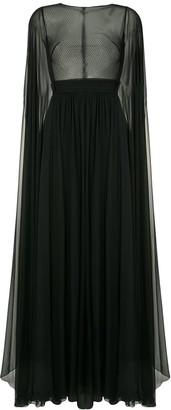 ZUHAIR MURAD Flyaway cape gown