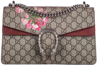 Gucci Brown GG Supreme Canvas Blooms Dionysus Small Shoulder Bag