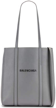 Balenciaga XS Everyday Tote Bag in Grey & Black | FWRD