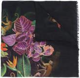 Oscar de la Renta jungle print scarf