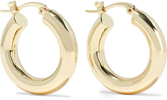 Shashi Dominique 18-karat Gold-plated Hoop Earrings