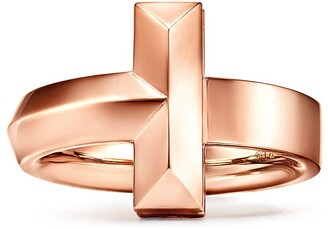 Tiffany & Co. T T1 wide ring in 18k rose gold, 4.5 mm wide