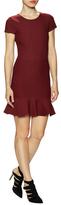 Donna Mizani Cap Sleeve Ruffled Mini Dress