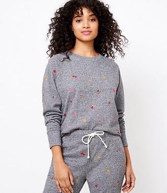 LOFT Lou & Grey Heart Emoji Fleeceback Jersey Sweatshirt