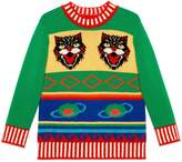 Gucci Children's intarsia wool cashmere sweater