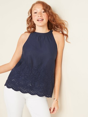 Old Navy Embroidered Eyelet Sleeveless Top for Women