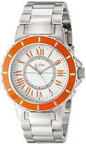 A Line a_line Women's AL-80009-02OR Marina White Dial Stainless Steel Watch