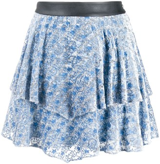 Zadig & Voltaire Paisley Print Tiered Skirt