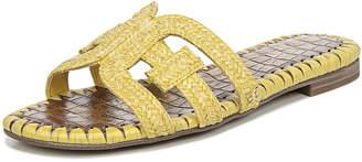 Sam Edelman Beckie 2 Flat Woven Raffia Slide Sandals