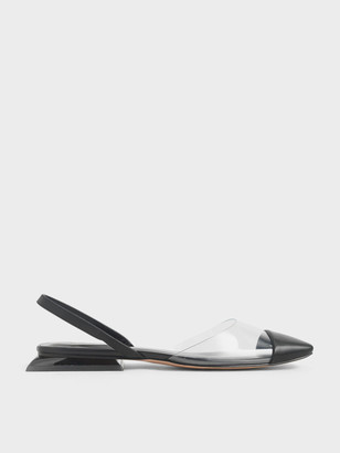 Charles & Keith Clear Slingback Flats