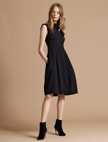 Halston Power Crepe Architectural Dress